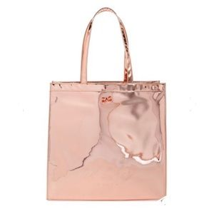 Ted Baker London Rose Gold Mirrored Lg Icon Tote